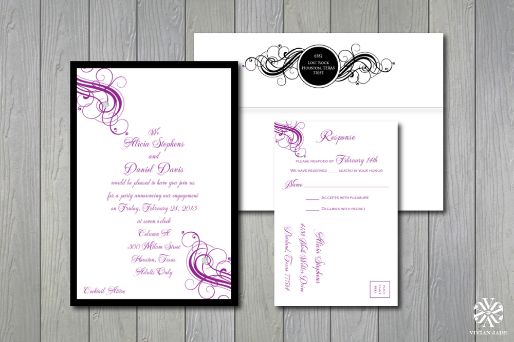 Alicia & Daniel  Engagement Party Invitations