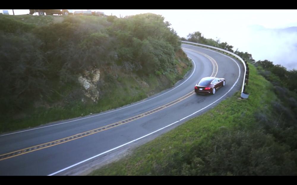 Tesla S + HoverCameras