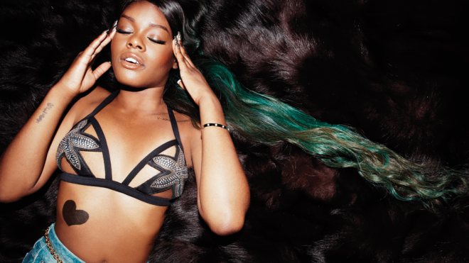 Azealia Banks wearing custom colored Indique Hair!