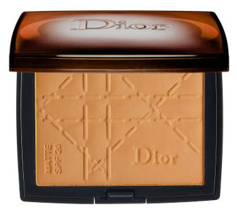 The Dior Bronze Matte Sunshine SPF 20 in Healthy Matte includes sebonormine and meadowsweet extract to help adsorb excess oils while the SPF protects the skin from UV rays.