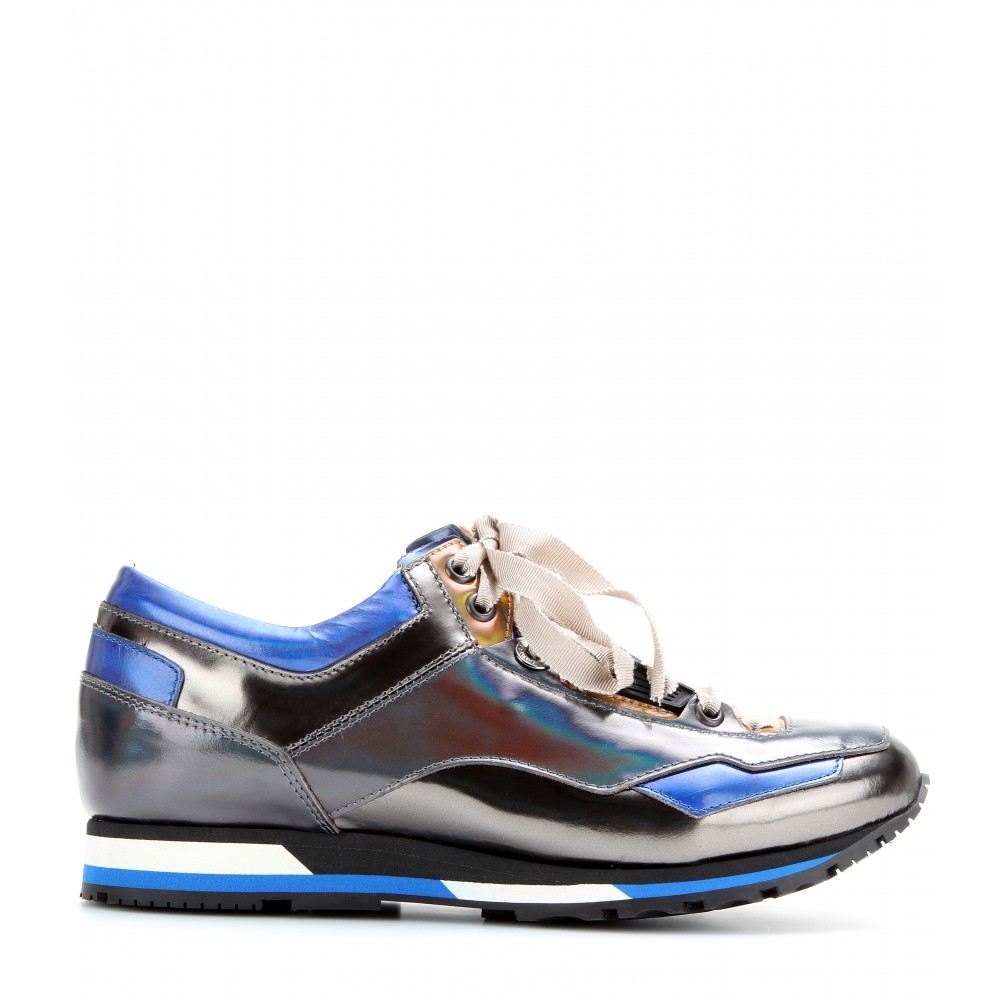 Lanvin Women's Holographic Leather Sneakers