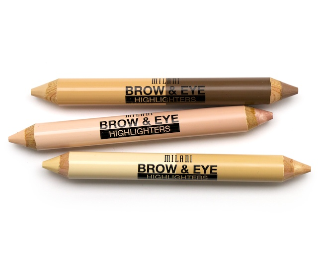 The dual edged   Milani Brow & Eye Highlighters   has brightening powers. The matte and pearl sides is a non-crease formula with a cream to powder finish that will lift and make your eyes glow!