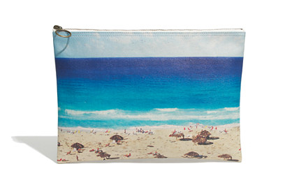 Madewell large zip pouch in beachday