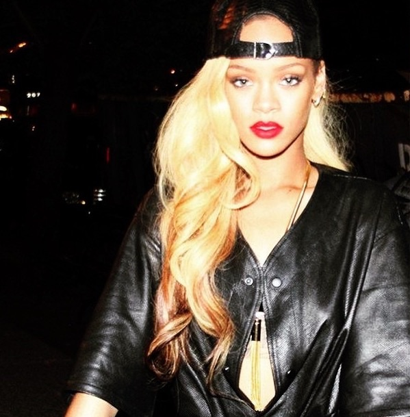 Rihanna is wearing two tubes of custom colored PURE Wavy 24""
