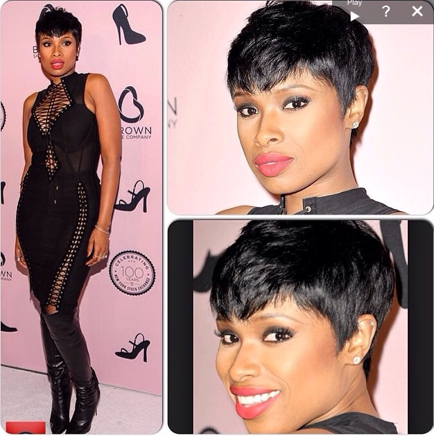 Jennifer Hudsons rocks a sassy short cut using Indique's PURE Wavy 10""
