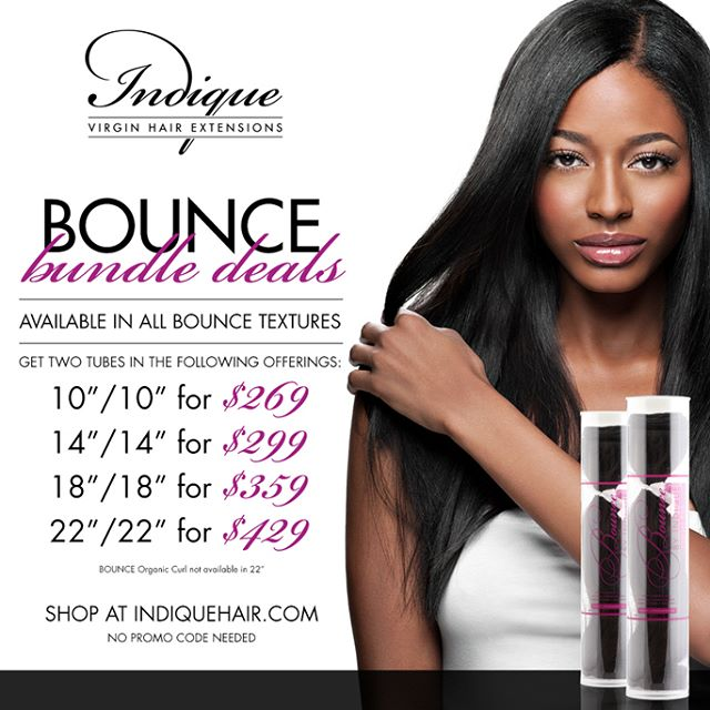 Indique's BOUNCE Bundle Deals are summer approved!  Experience our two tubed BOUNCE Bundle Deals in the following textures: BOUNCE Natural Roots, BOUNCE Relaxed Straight, BOUNCE Beach Wave, BOUNCE Deep Wave, BOUNCE Coil Curl and BOUNCE Organic Curl!  Click the link in the bio to shop!  #Indique #IndiqueHair #IndiqueBoutique #IndiqueBundles  #BundleDeals #Bundles #BOUNCERelaxedStraightBundles  #BOUNCEBeachWave  #BOUNCEBeachWaveBundles  #BOUNCEDeepWave  #BOUNCEDeepWaveBundles  #BOUNCECoilCurl  #BOUNCECoilCurlBundles  #PressedStarightClosure  #WavyClosure  #CurlyClosure  #Closures  #OnlineBoutique #Weaves #VirginHair #HumanHair