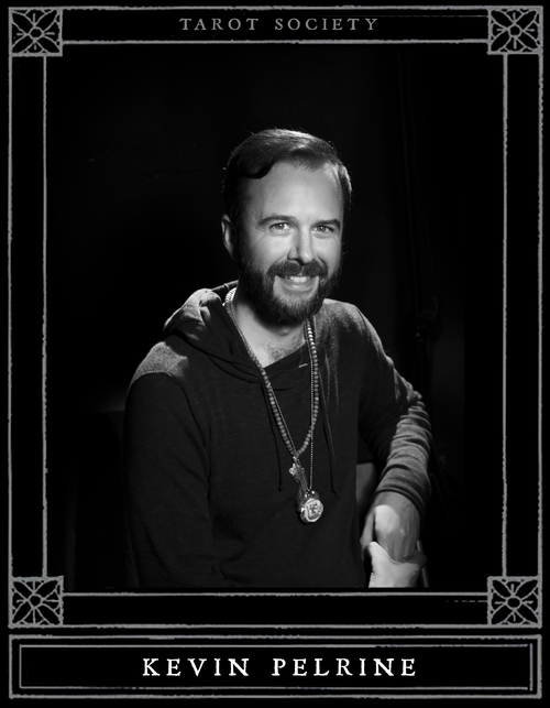 "Kevin Pelrine is a musician, designer, and student of the tarot. He is a graduate of Stuart Südekum's Tarot Symbolism course; his approach to tarot is in line with Waite's maxim that ""The true tarot is symbolism."" He is the co-founder of Tarot Society."