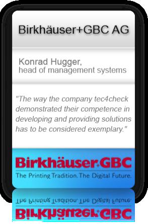 Customer testimonial from Birkhäuser+GBC AG