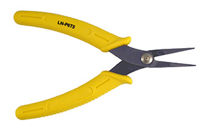 "LN-P6T5 - Needle nose pliers for delicate work.  Length of jaws 1-1/4"", overall length of pliers 5-1/2"""
