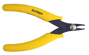 "FC-P422-F - Precision front cut diagonal pliers angled at 30° to cut in tight spots.  Overall length is 4-3/4""."