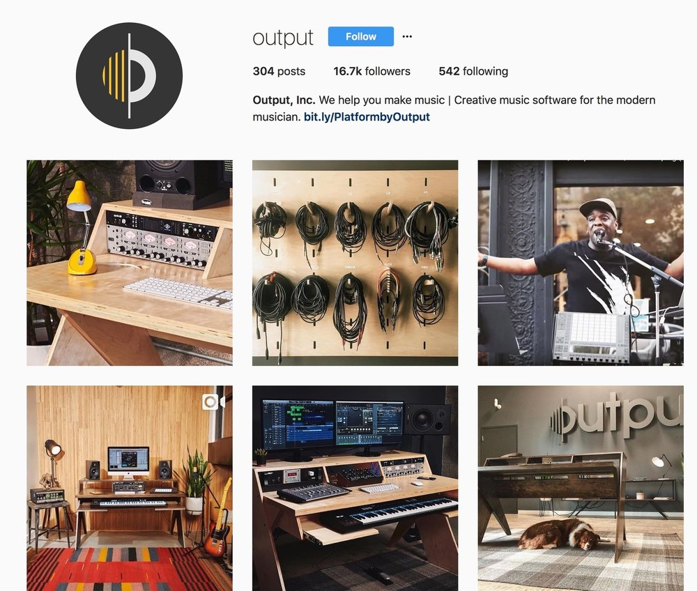 Output, inc. Instagram page