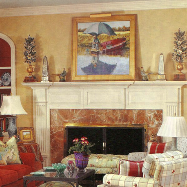 Allan Cooper Dell Interiors Ad, Closeup of Connie Winters Painting
