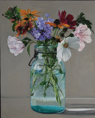 Cosmos and Plumbago, Rose of Sharon