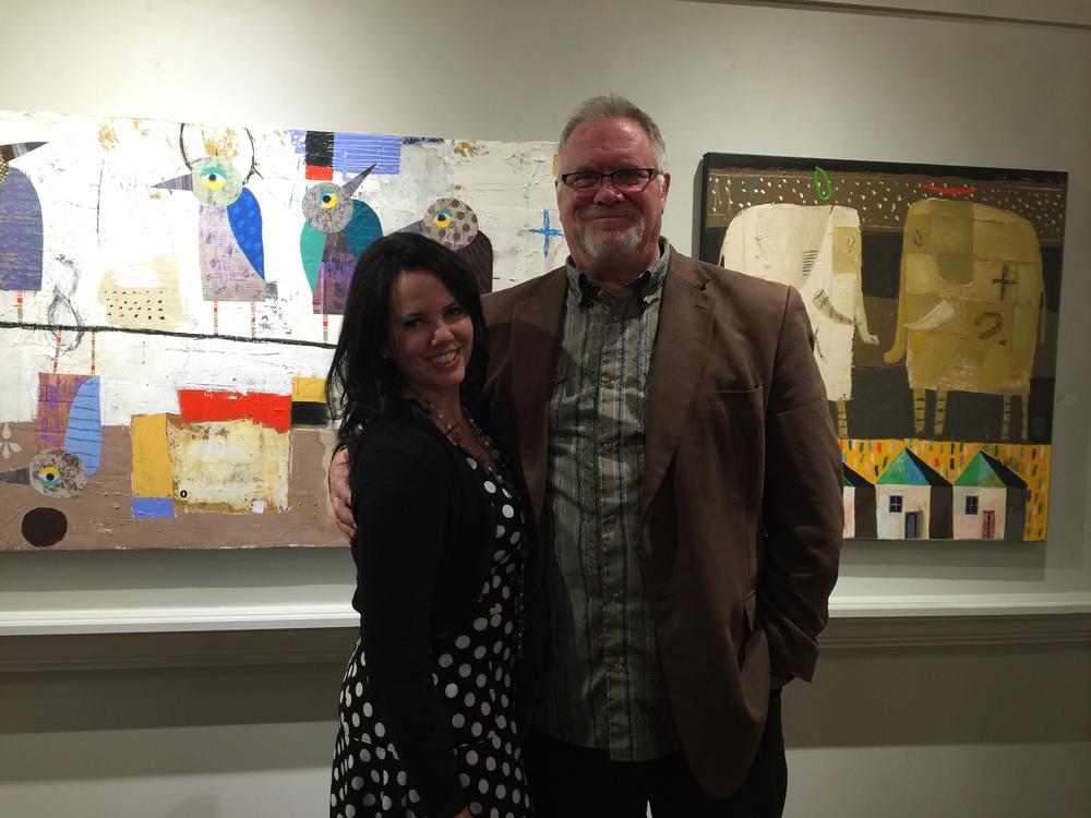Artists Christy Kinard and Nathaniel Mather
