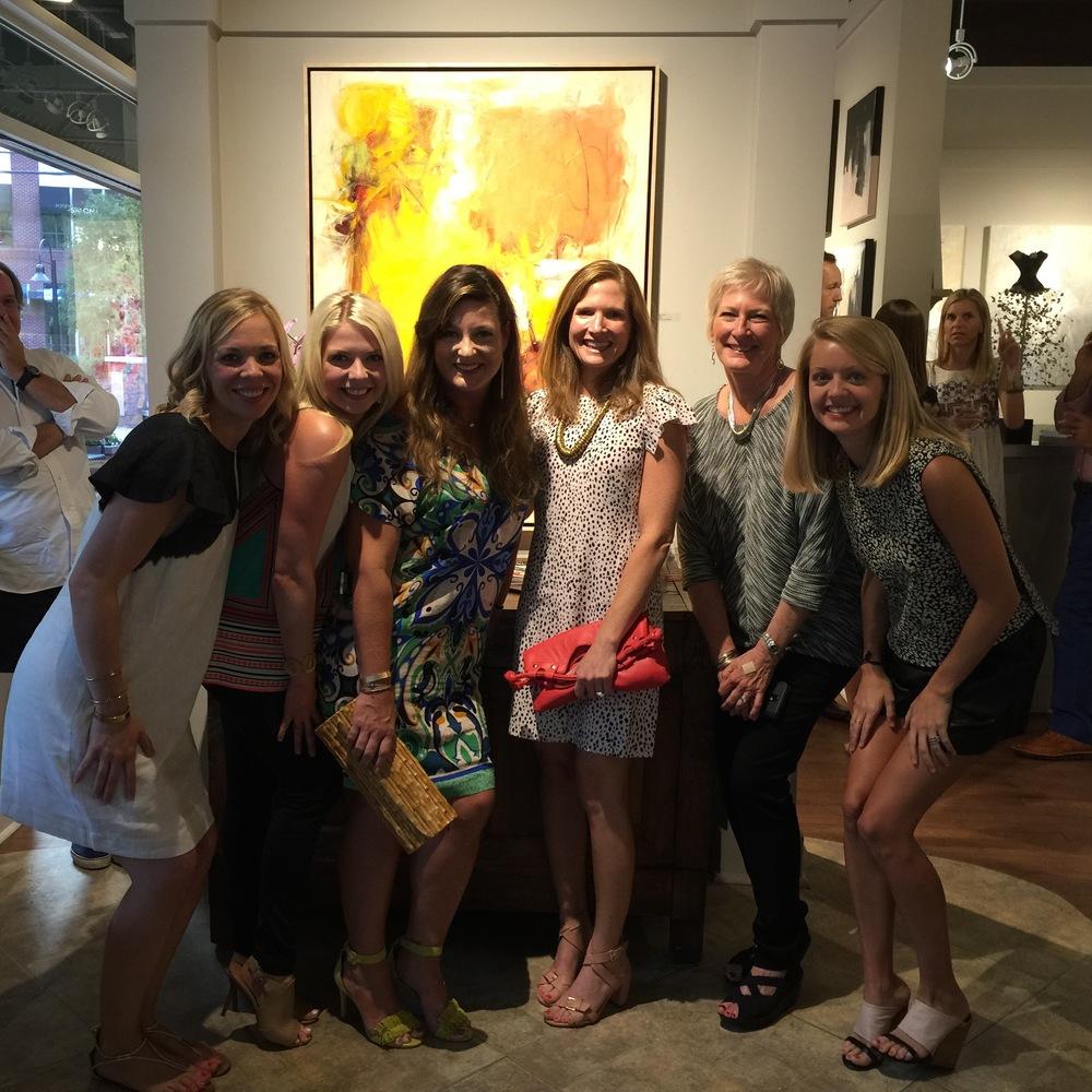 Artists Caroline Swetenburg, Melissa Payne Baker, Casey Matthews, Holly Graham, Karen Scharer and Kristin Blakeney
