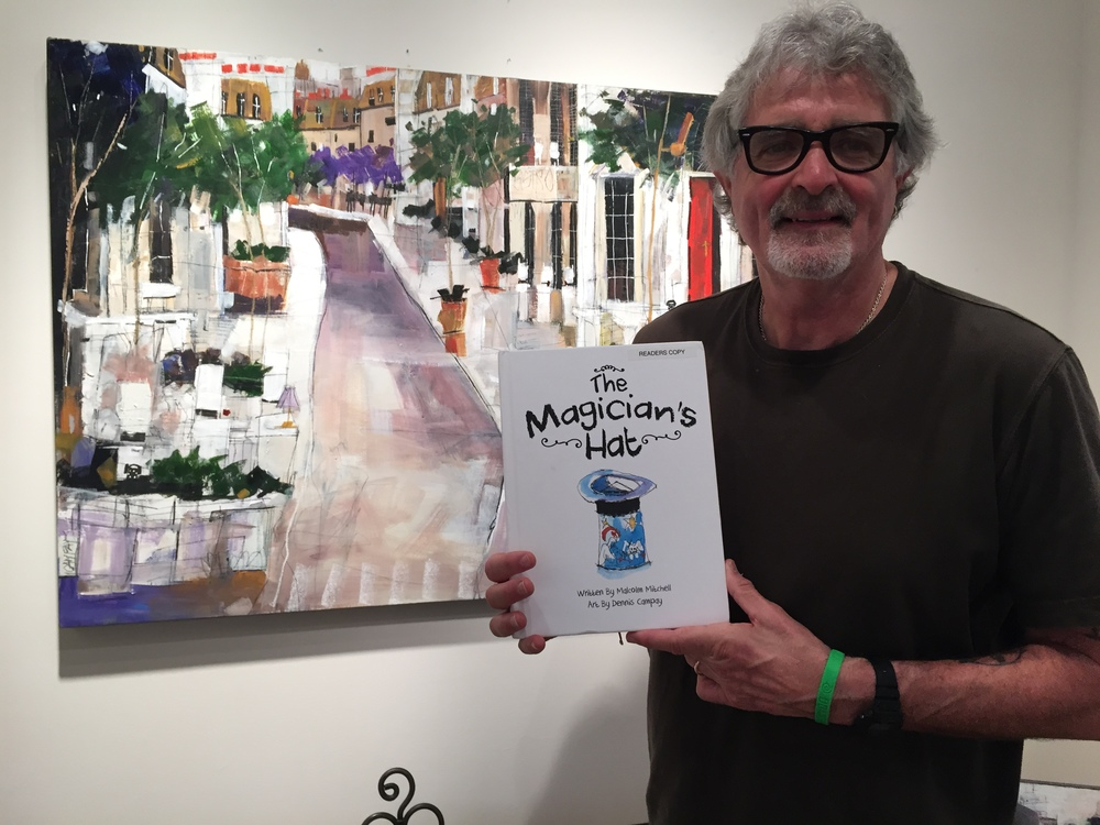 Artist Dennis Campay with his illustrated book!