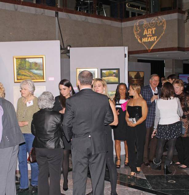 Gallery Owner Sybil Godwin at Art with Heart 2016