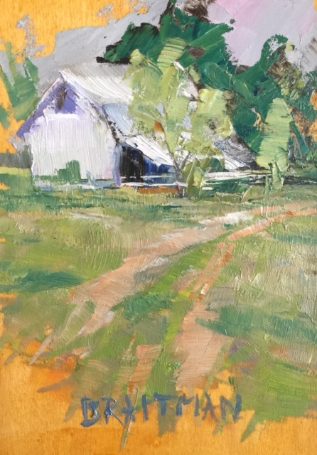 Barn in Spring II 7X5 $250.jpg