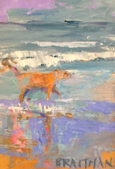 Dog on Beach II 7X5 $250.jpg