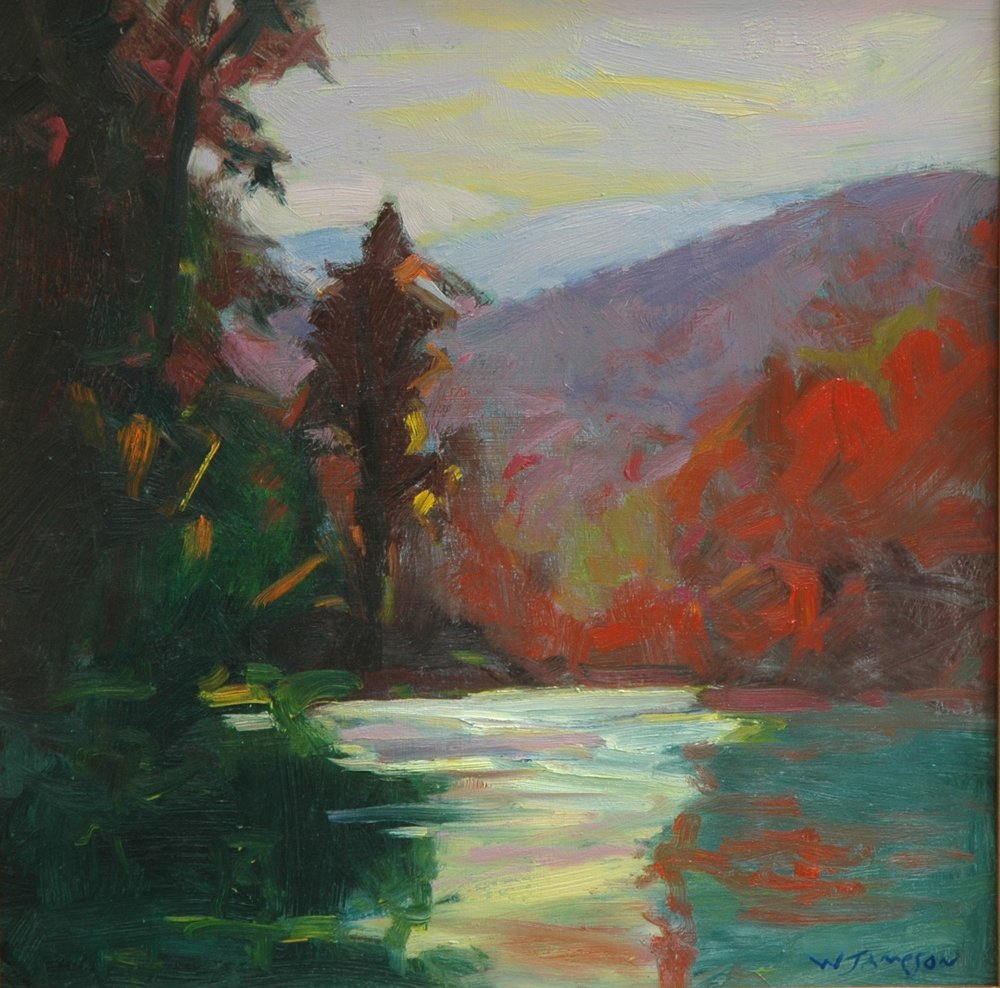 Davidson river Afternoon 16x16 $1,750.jpg