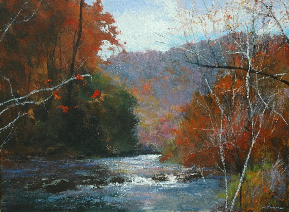 Fall on the Wautauga, 18x24 $3,500.jpg
