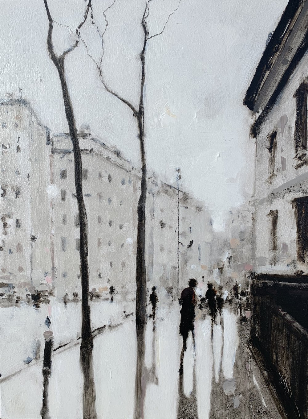 Geoffrey Johnson, Central London, 16X12, Oil on Board