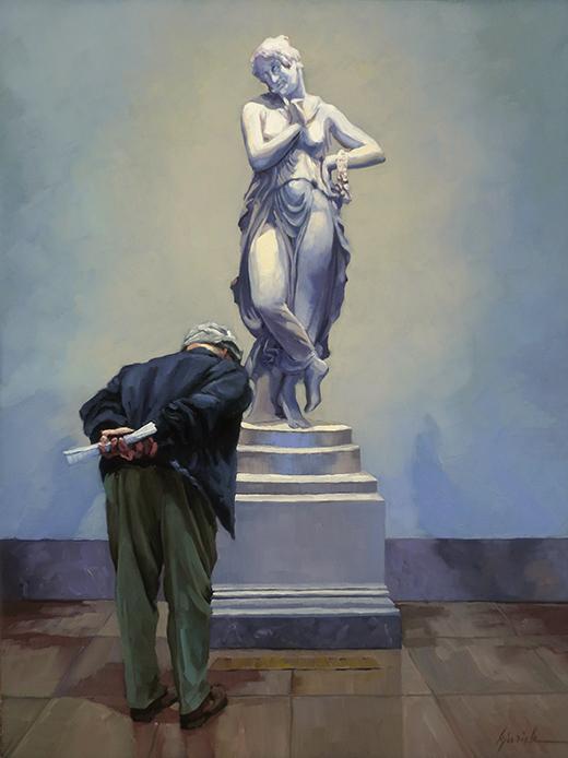 On Her Pedestal