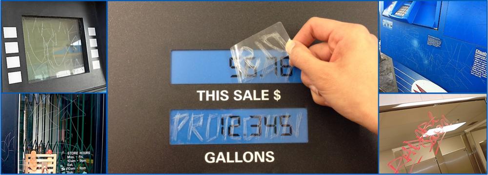 Gas-Pump-Screen-Protector-Etching-Graffiti-UV-Fading-Gilbarco-Wayne-VeriFone-Card-Reader-POS-Touch-Screen-Display