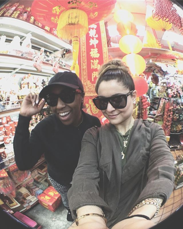 @raeannnb remember that time in China.....? (Town)  #roots #beijing #chinatown  Happy birthday bb💕