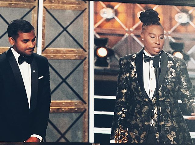 So Deserving. incredibly happy for these two and @lenawaithe for this major first - you're truly inspiring ❤️ it's been a ride!! @masterofnone #blackgirlmagic #emmys #thanksgiving