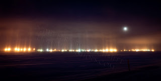 Prudhoe Bay Concert Lights Under the Full Moon