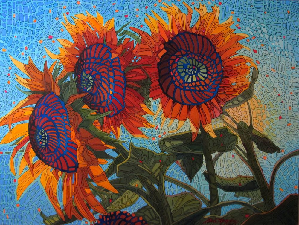 "Shelley's Sunflowers   30"" x 40"""