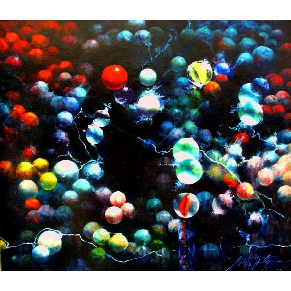 """'Last Full Moon'   14"""" x 15""""  Oil on Panel"""