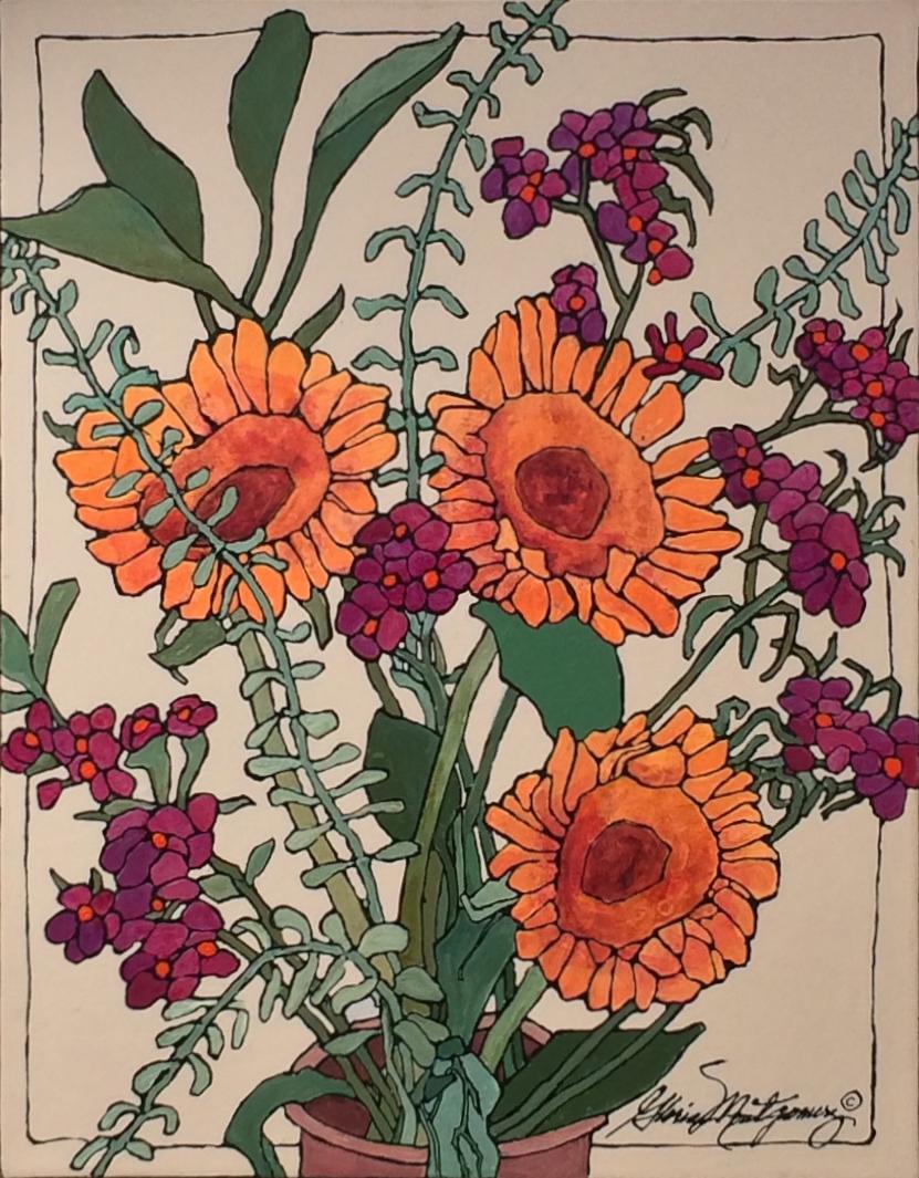 Sunflowers and Eucalyptus   $700.