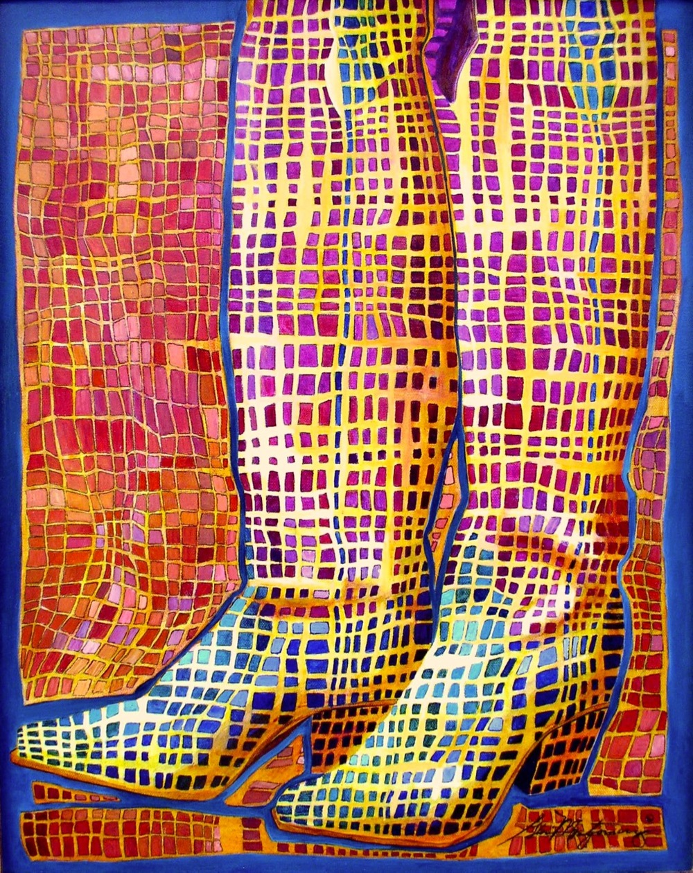 "Yea Ha! Boots   16"" x 20"" Oil Painting on Canvas"