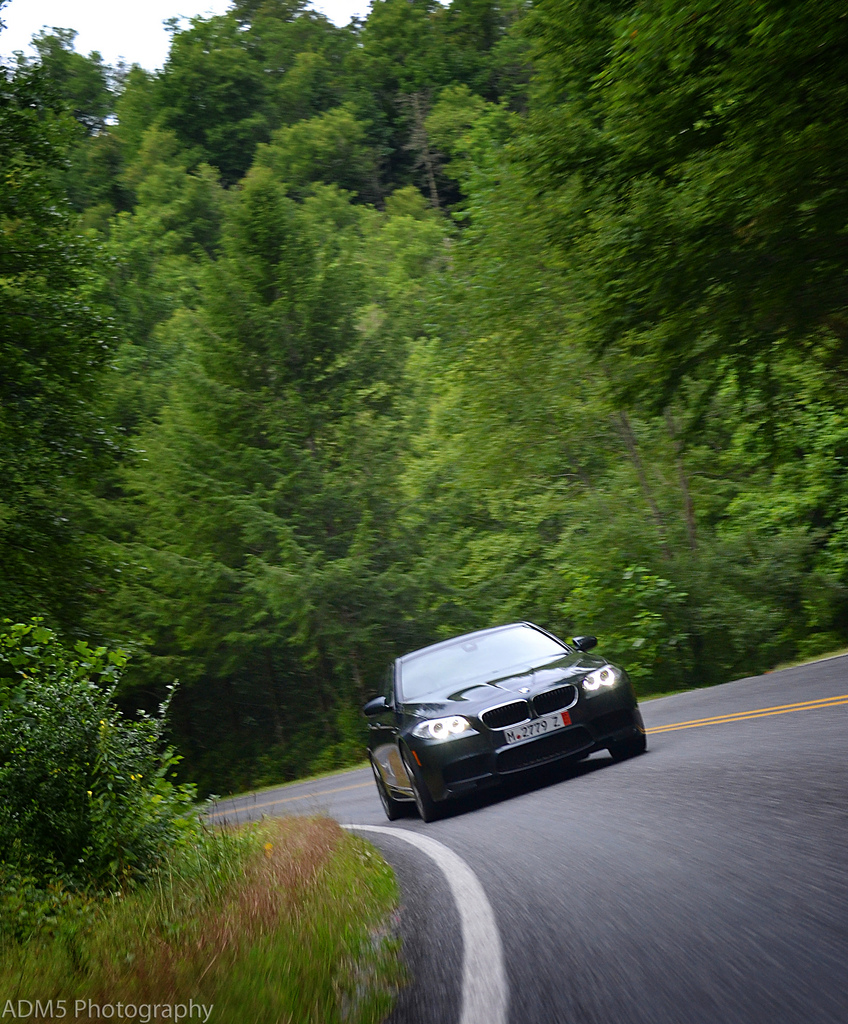 My BMW F10 M5 on the Blue Ridge Parkway