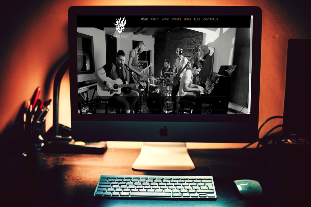 Cairokee   TAC created a website with a modern layout design that promotes the band digitally with categorized, updated tabs.   Give it a Visit.