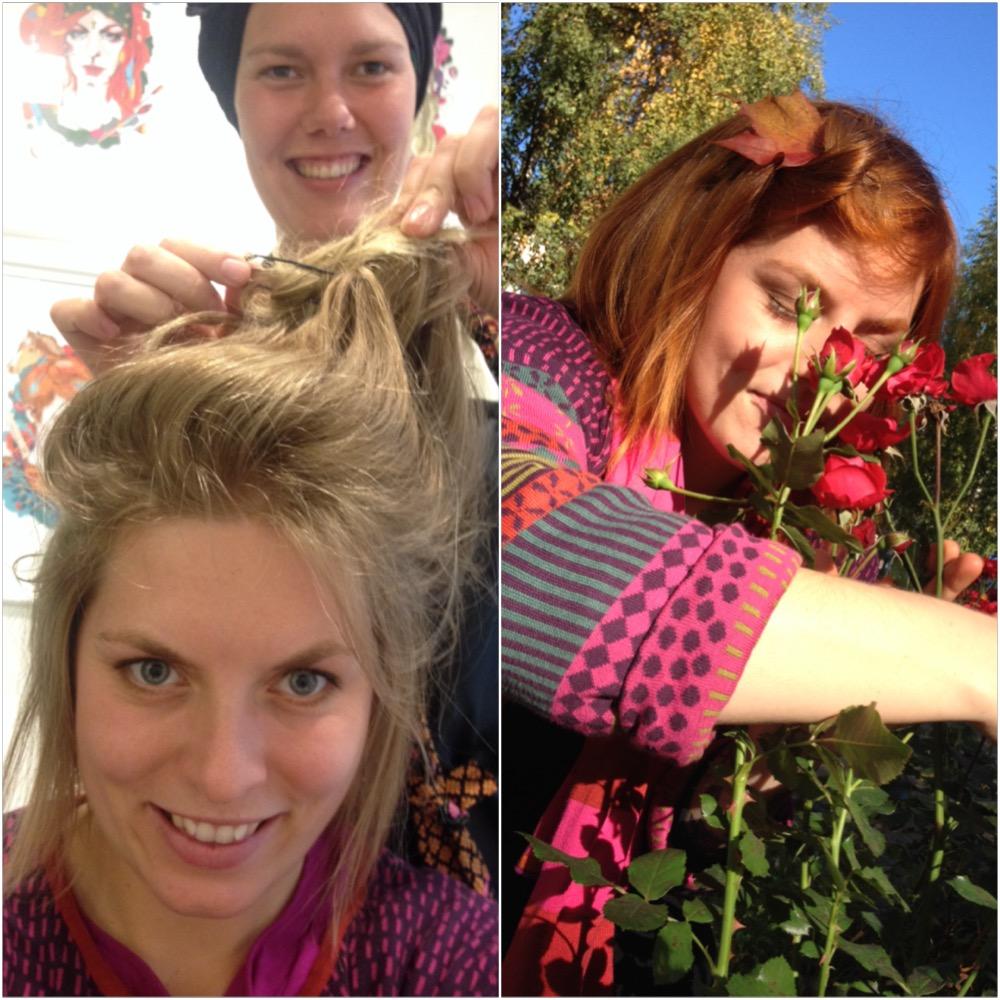 """Oblyga Anca Elmberg som var kopprig vid uppstarten av KE ( illustrerad bild uppe till vänster) som lessnade ur, blev """"naturlig"""" och blond, men som tillslut insåg att hon var färgstark enda in i själen. - """"ty de som säger att blonda har mer roligt har då för fasiken aldrig varit rödhårig"""" fantastiskt ordspråk - Helena Jonsson 2000någonting."""