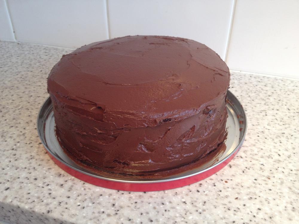 Chocolate cake for a wedding