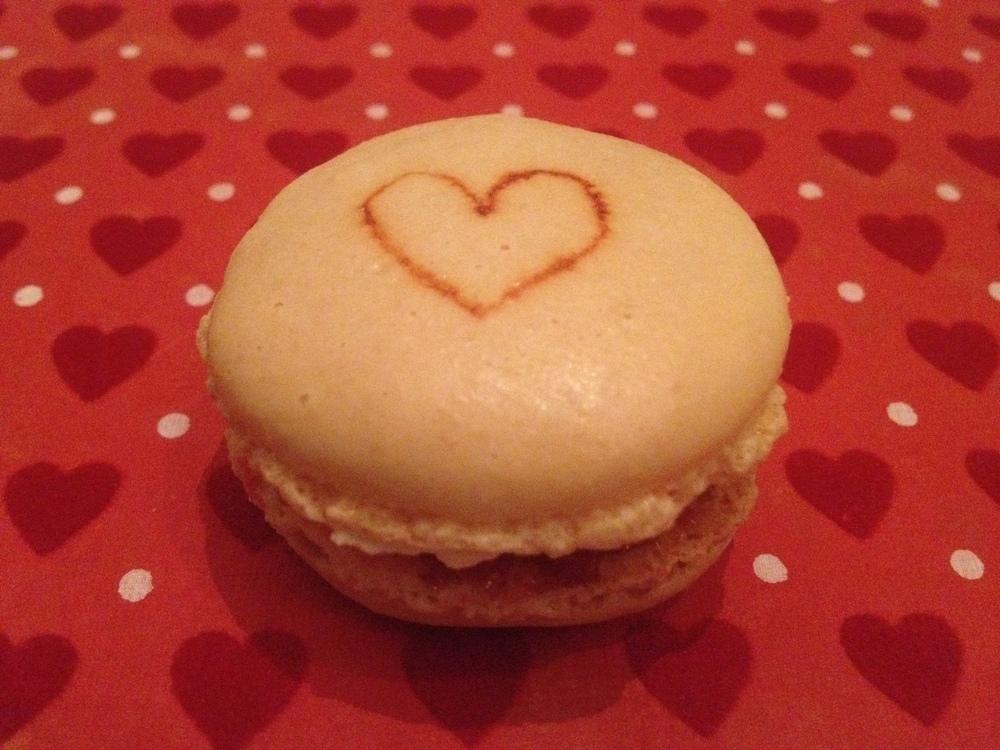 Valentine's Day raspberry macarons