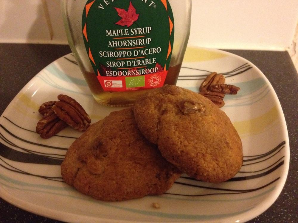 Maple glazed cookies