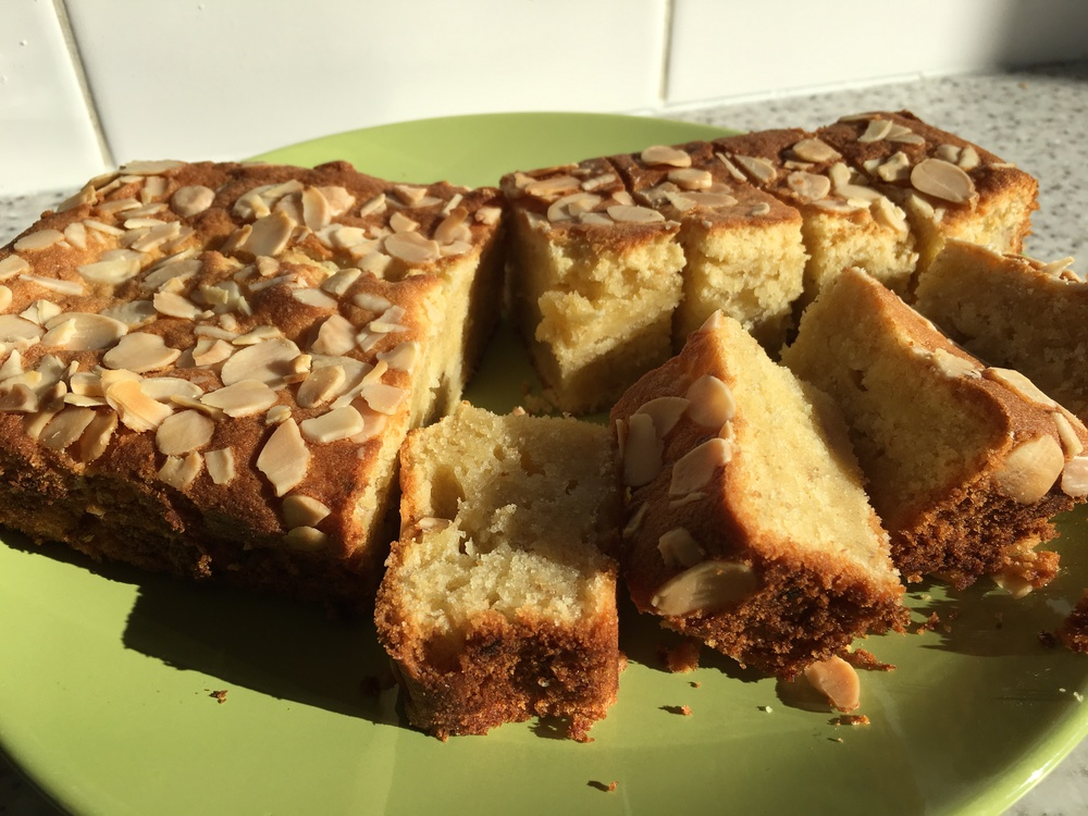 Banana and almond cake