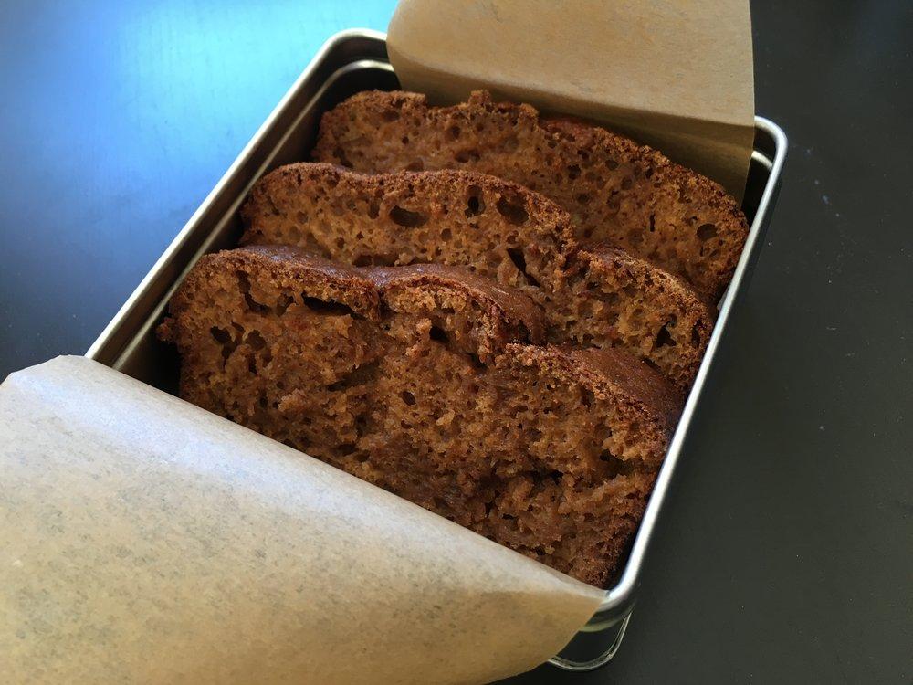 Cinnamon banana tea loaf
