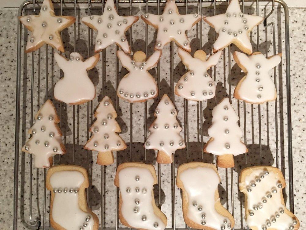 Christmas vanilla biscuits