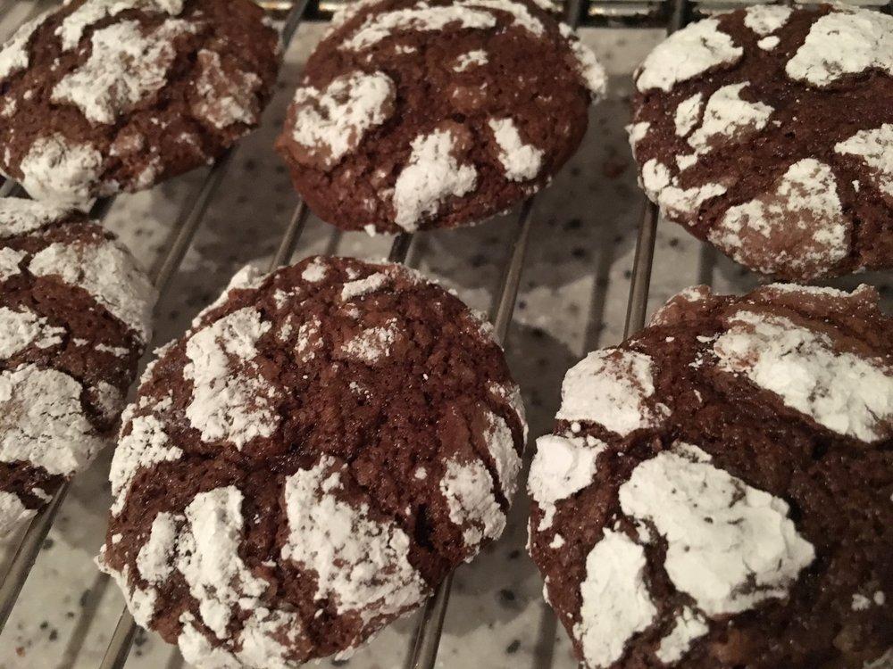 Dairy-free chocolate brownie cookies