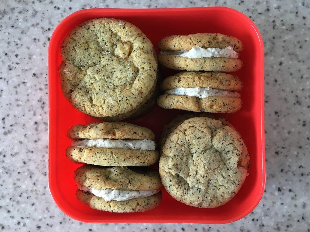 Earl Grey sandwich biscuits