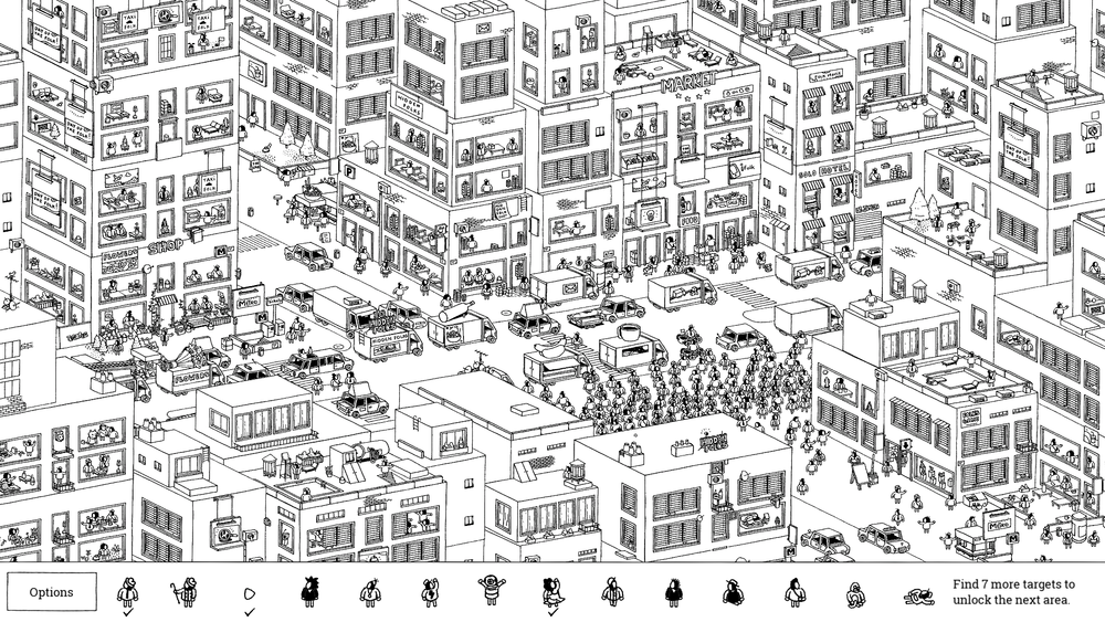 Hand-drawn game Hidden Folks is people watching at its finest