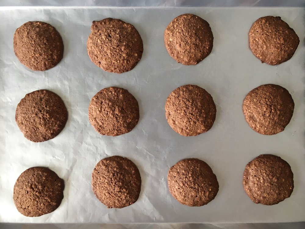 Chocolatey malty cookies