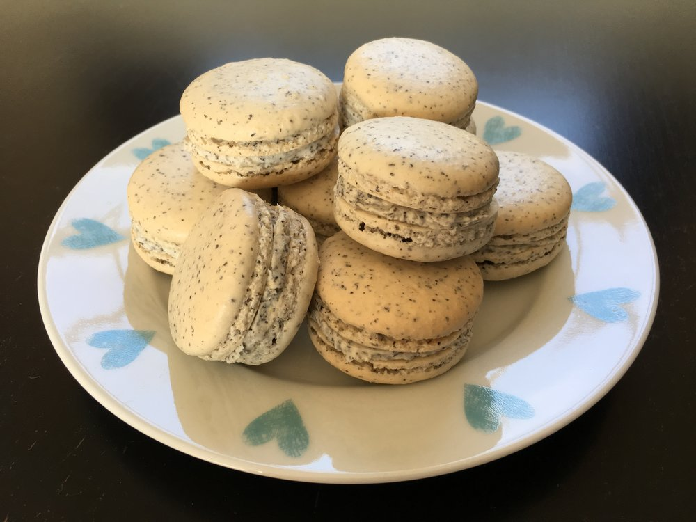 Earl Grey macarons