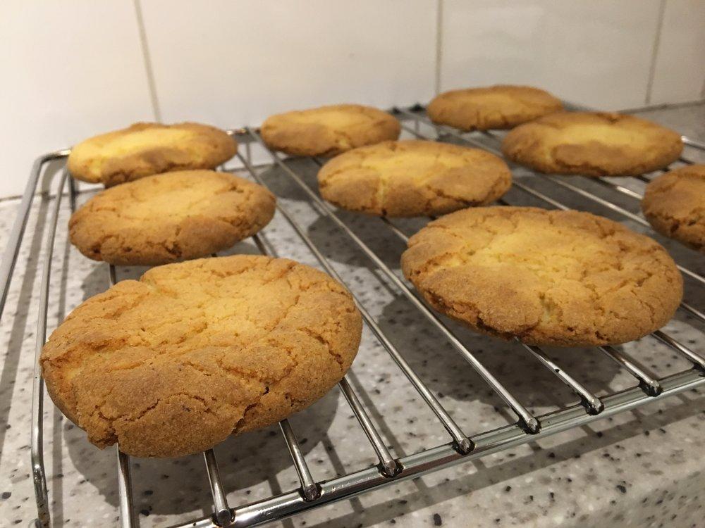 Sweet corn cookies